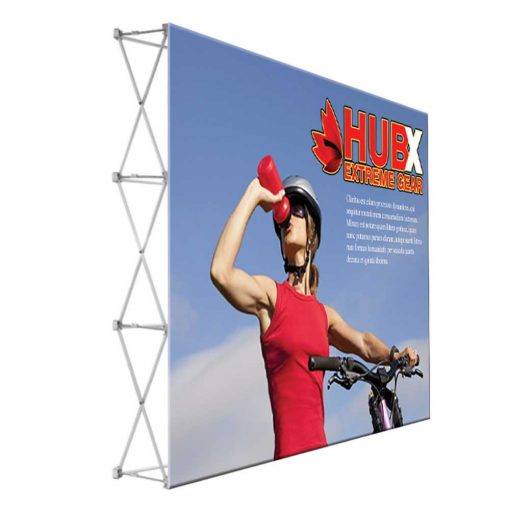10 ft. RPL Fabric Pop Up Display – 89″h Straight Graphic Package (No Endcaps)