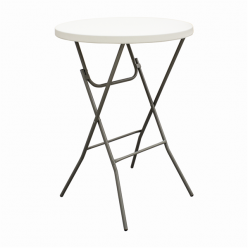 Bar Height Round Foldable Table