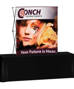 Splash 6′ Curve Tabletop – Face Graphic Display
