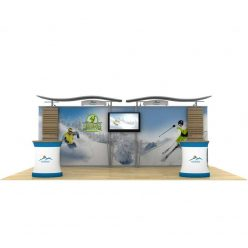 20ft Timberline Kit with Straight Sides, Monitor Mount, and Slat Walls
