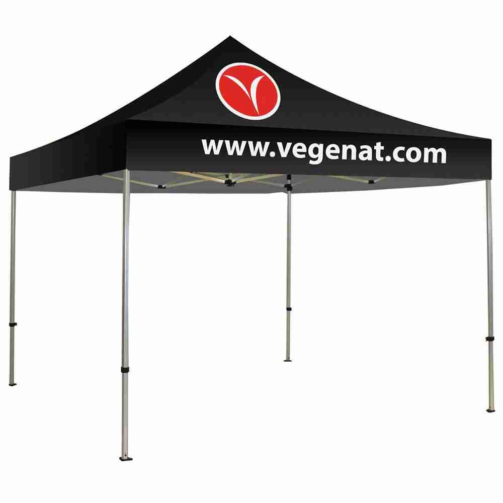 10ft Casita Canopy Tent Black 2 Color Logo