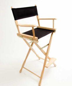 Gold Medal Directors Chair – Classic Natural 30″ Black Canvas