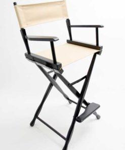 Gold Medal Directors Chair – Classic Black 30″ Khaki Canvas