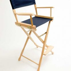 Gold Medal Directors Chair – Classic Natural 30″ Navy Canvas