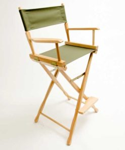 Gold Medal Directors Chair – Classic Natural 30″ Olive Canvas