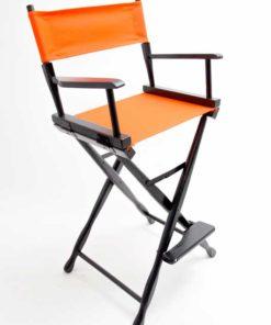 Gold Medal Directors Chair – Classic Black 30″ Orange Canvas