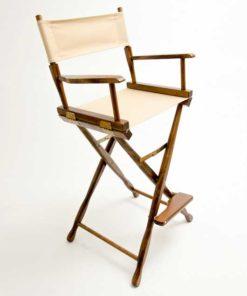 Gold Medal Directors Chair – Classic Walnut 30″ Khaki Canvas