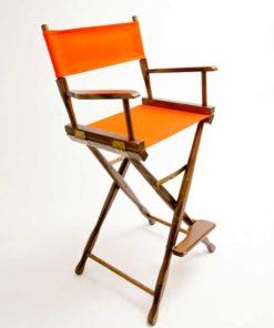 Gold Medal Directors Chair – Classic Walnut 30″ Orange Canvas