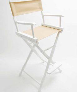 Gold Medal Directors Chair – Classic White 30″ Khaki Canvas