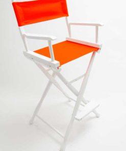 Gold Medal Directors Chair – Classic White 30″ Orange Canvas