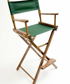 Gold Medal Directors Chair – Contemporary Walnut 30″ Hunter Canvas