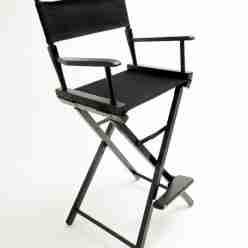 Gold Medal Directors Chair – Commercial Black 30″ Black Canvas