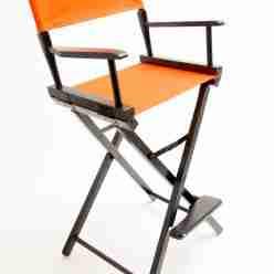 Gold Medal Directors Chair – Commercial Black 30″ Orange Canvas