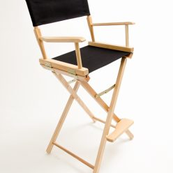 Gold Medal Directors Chair – Commercial Natural 30″ Black Canvas