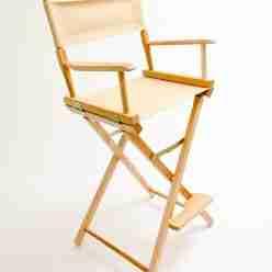 Gold Medal Directors Chair – Commercial Natural 30″ Khaki Canvas