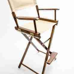Gold Medal Directors Chair – Commercial Walnut 30″ Khaki Canvas