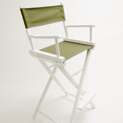 Gold Medal Directors Chair – Commercial White 30″ Olive Canvas
