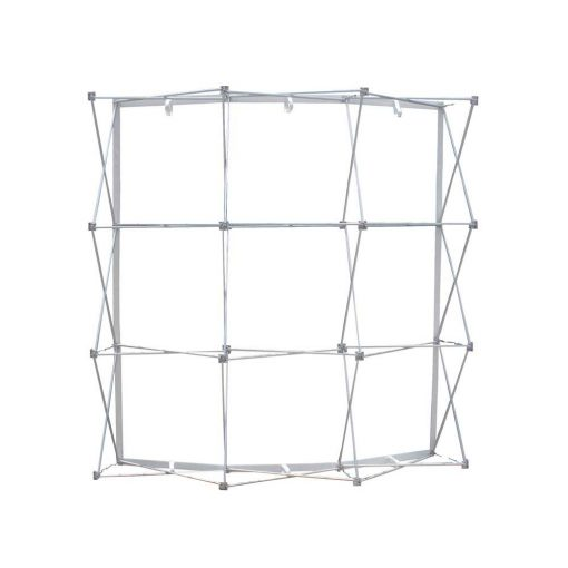 8 ft. RPL Fabric Pop Up Display – 89″ Curve (Frame Only)