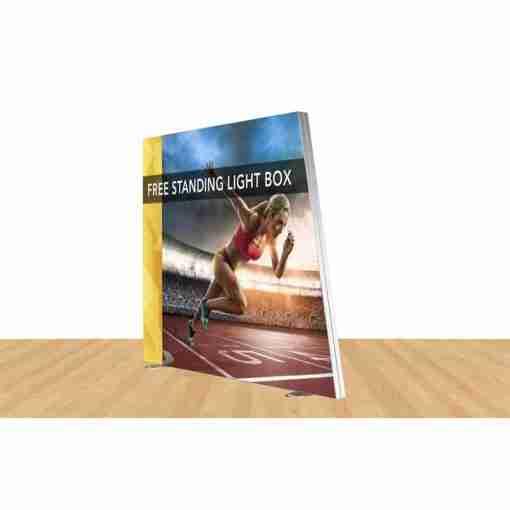 Angled Freestanding Light Box 108″ X 96