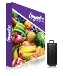 8 ft. Ready Pop Fabric Display – 8'h Straight Double-Sided Graphic Package (With Endcaps)