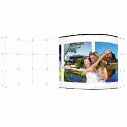 Pop Up 20 Ft. Serpentine Pop Up Display – Backside Laminated Graphic Panel Set