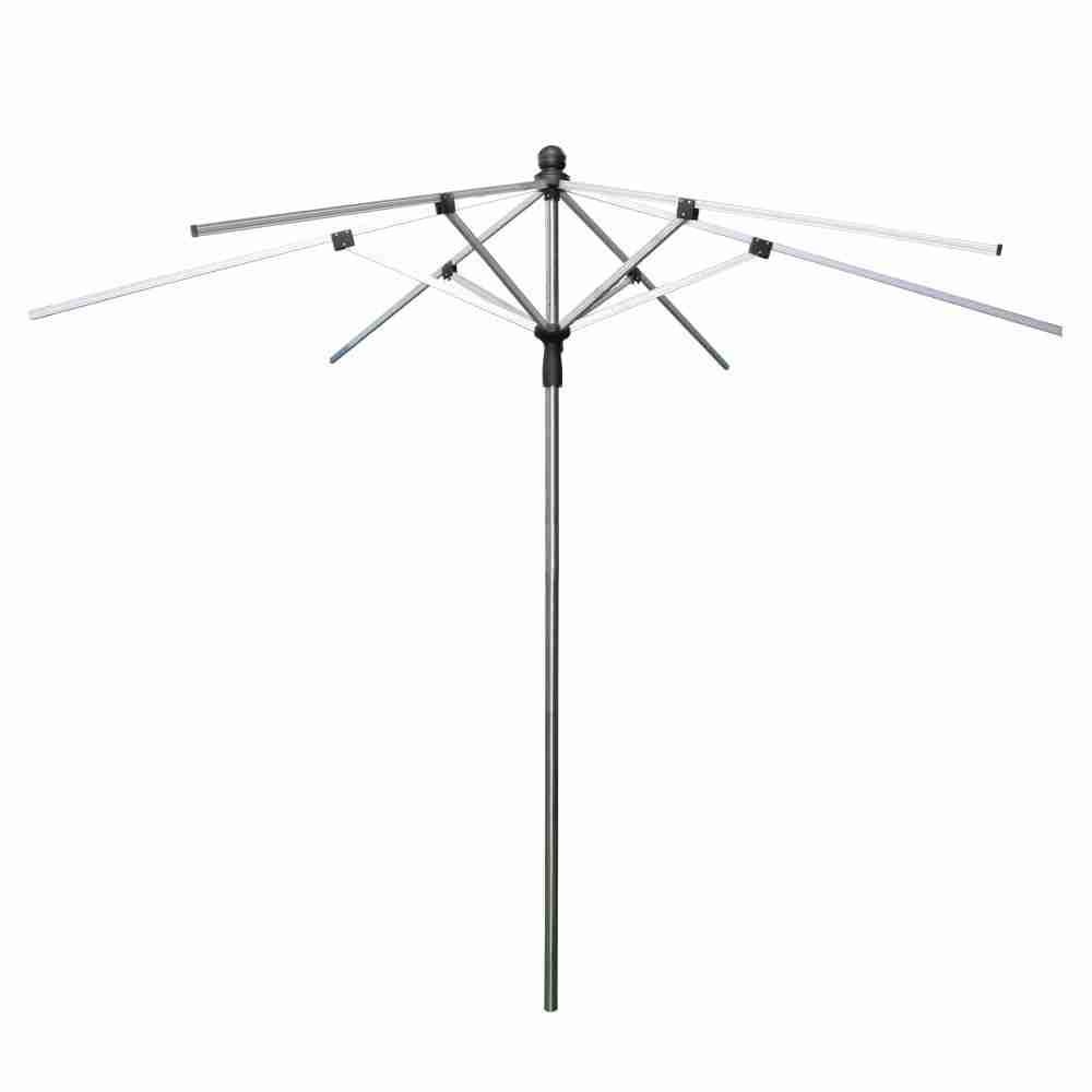 Skycap Umbrella - Hexagon Black Canopy 1 Color Logo