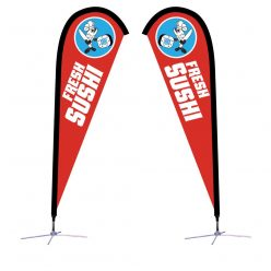 7.5 Ft. Sunbird Flag – X-Base Double-Sided Graphic Package
