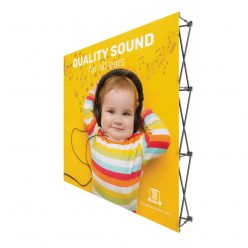 8 ft. One Choice Fabric Pop Up Display – 89″h Straight Graphic Package (No Endcaps)