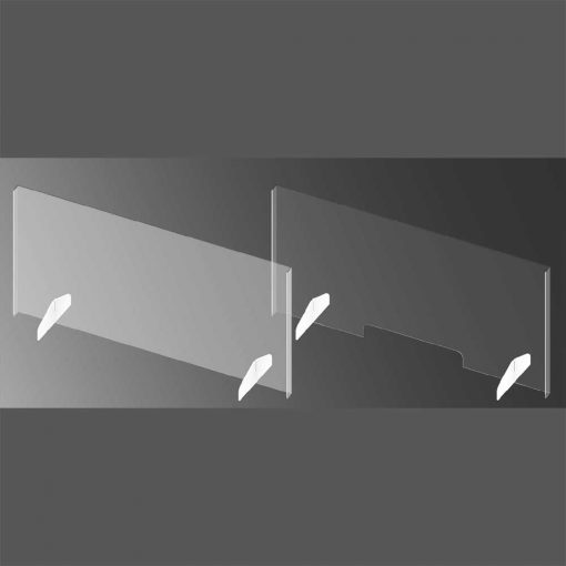 Acrylic Sneeze Guards 44″w x 22″h